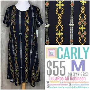 LuLaRoe Carly - Size M - Navy Blue - NWT